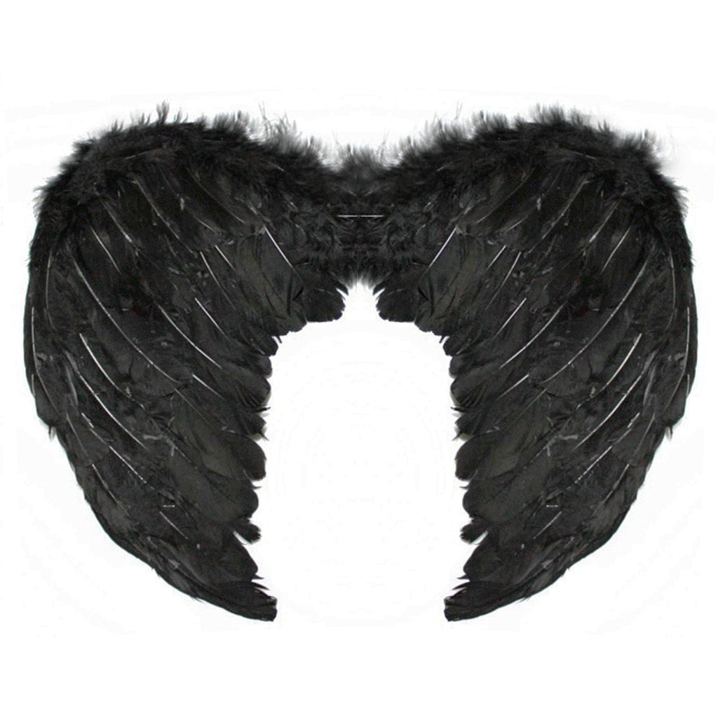 Black Feather Small Angel Wings