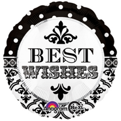 Best Wishes Damask & Dots Balloon