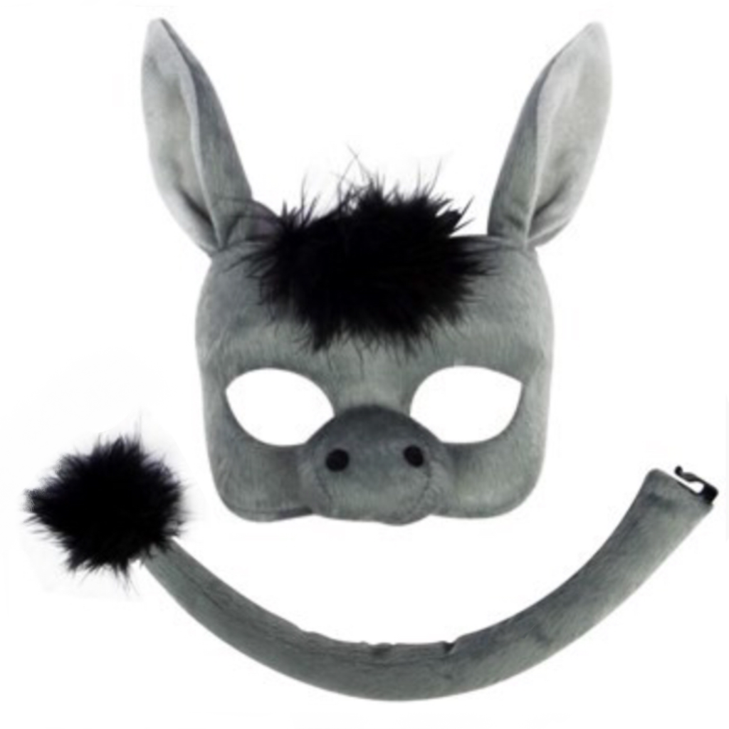 Donkey Deluxe Mask and Tail Set