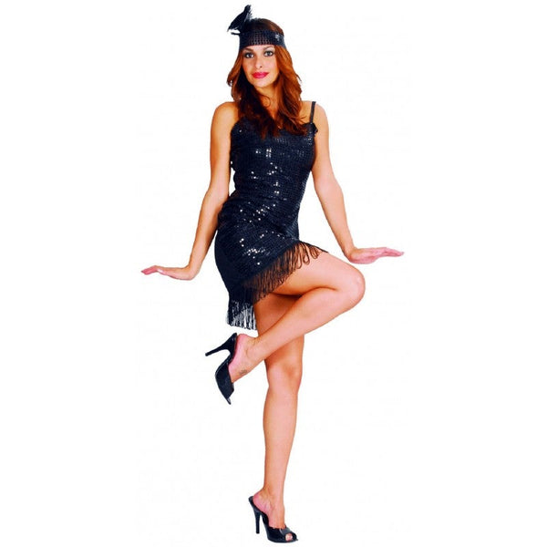 Black Flapper Womens Costume
