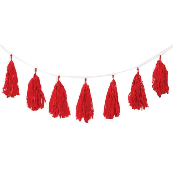 Apple Red Tassel Garland 3m 12pk