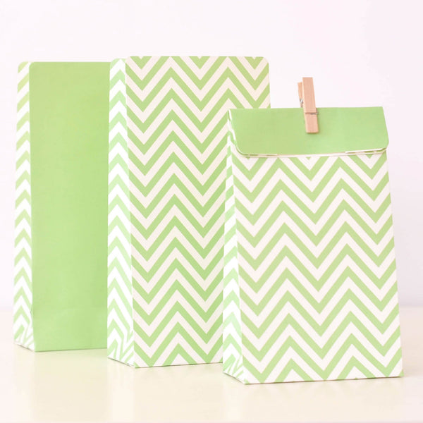 Illume Chevron Pastel Green Treat Bags