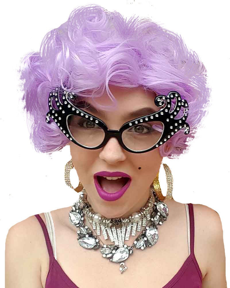 Dame Edna Purple Costume Wig