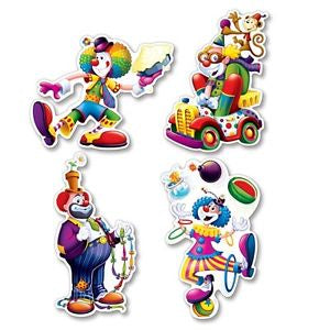 Circus Clown Cutouts