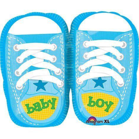 Baby Boy Kicks Junior Shape Balloon