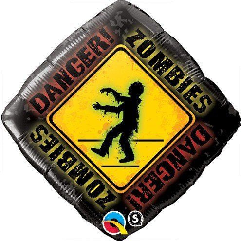 Danger Zombies Foil Balloon