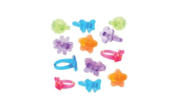 Party Favour Bright Rings
