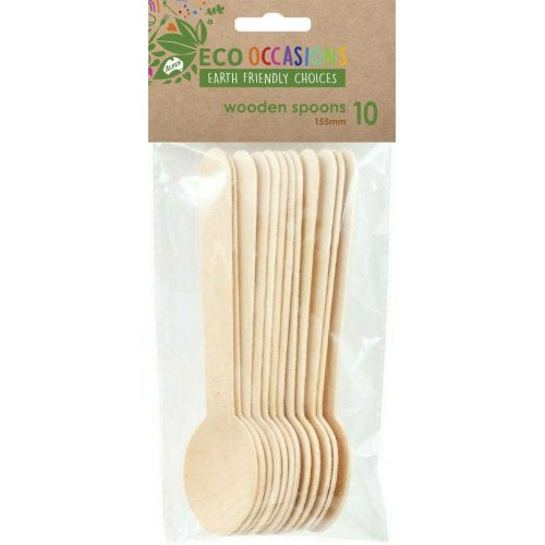Eco Friendly Wooden Spoons Pack of 10