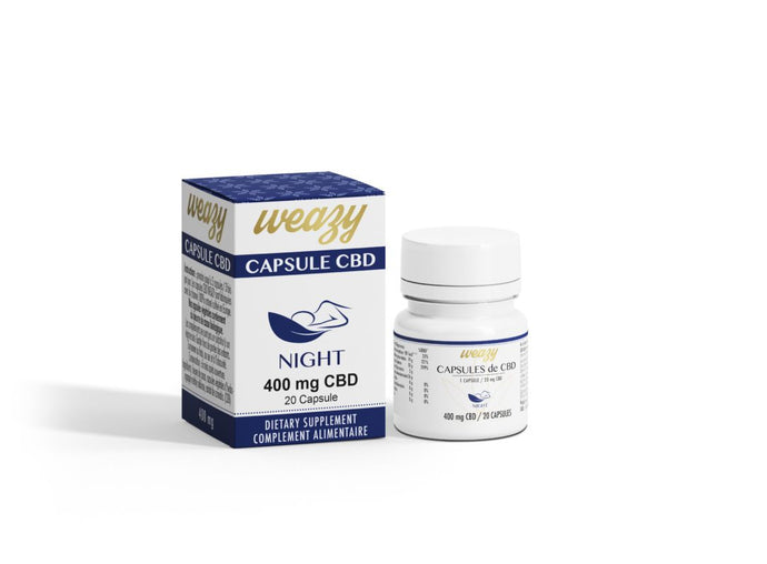Capsules Au CBD 400mg (20 pièces) NIGHT+ - green owl & wiwibox