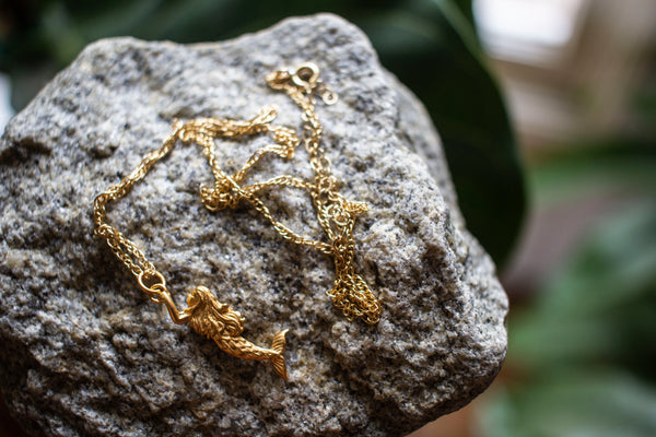 MERMAID GOLD ROPE NECKLACE