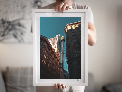 Sydney Tower 02 - White Frame-Australia Unseen - Prints by Vincent Rommelaere
