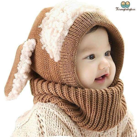 Bonnet crochet marron