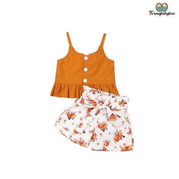 Ensemble short bébé fille