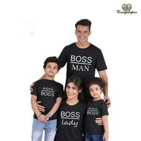 Tee shirt famille assorti boss