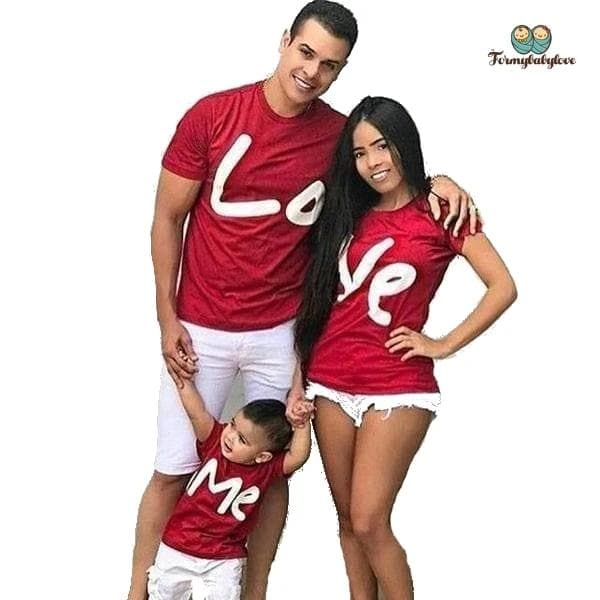 Tee shirt famille assorti love
