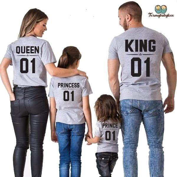 Tee shirt famille assorti prince