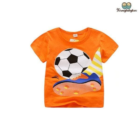 Tee shirt garçon football