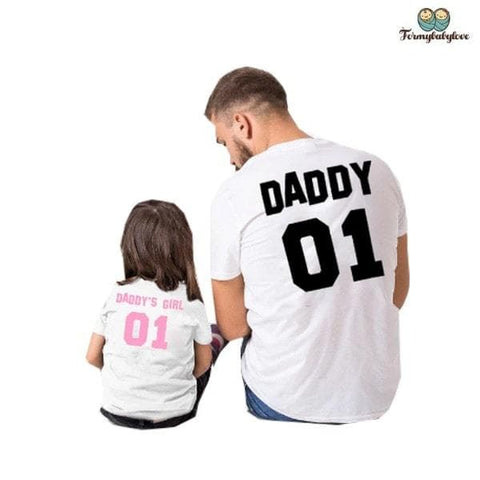 Tee shirt père fille assorti