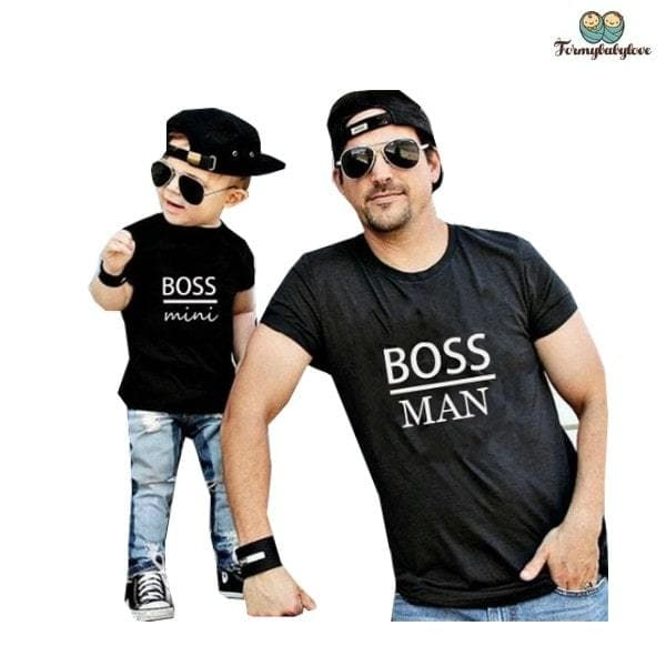 Tee shirt père fils assorti boss