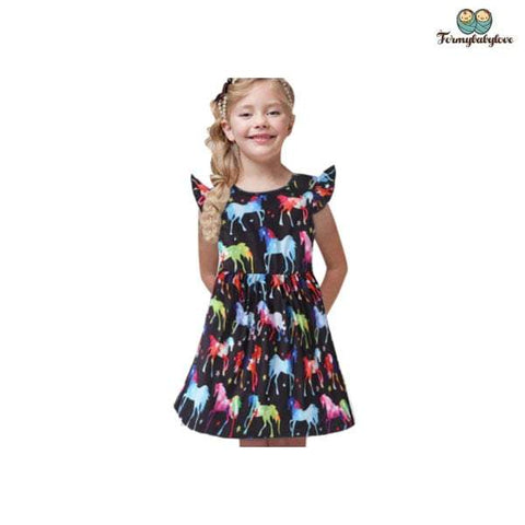 robe fille poney