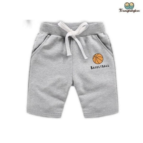 short garçon basketball gris