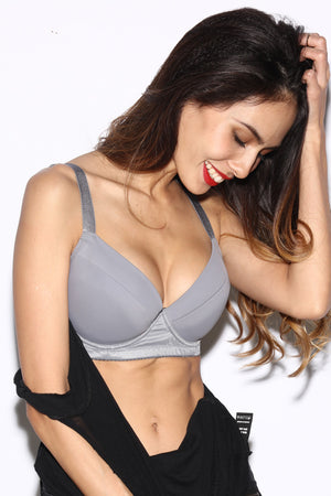 Casual Bra - Light Grey - BRAOLOGIE