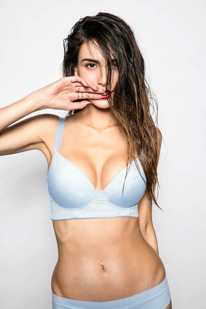 Casual Bra - Light Blue - BRAOLOGIE