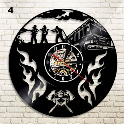 Proud Firefighter Wall clock
