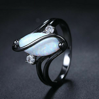 Proud October Queen - Opal Stone ring