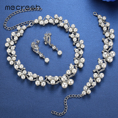 Princess Pearl Jewelry ( Necklace, Earrings, Bracelet)