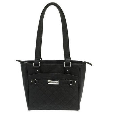 VISM Concealed Carry Quilted Tote Black