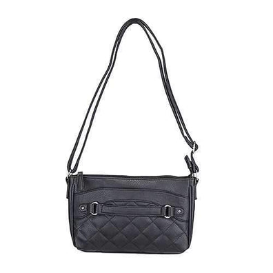 Quilted Cross body Bag Black