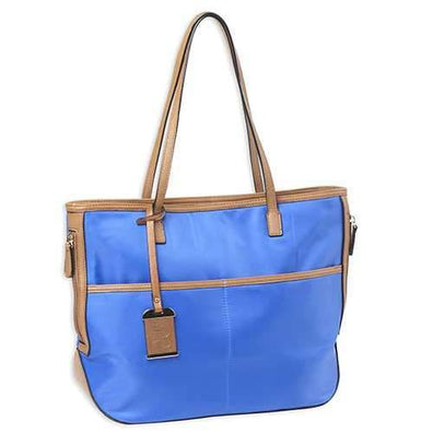 Tote Style Nylon Purse with Holsters, Blue