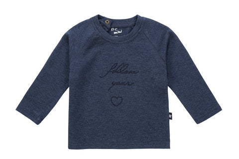 Petit Clair denim follow your heart top