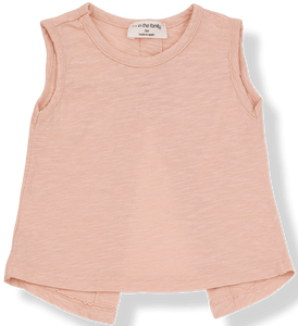 1+IN THE FAMILY PINK OPEN-BACKED TANK & SHORTS