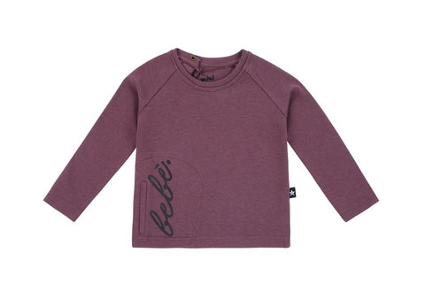 Petit clair purple Bebe top