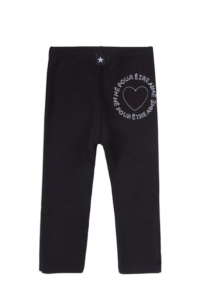 Petit Clair heart print t-shirt & leggings