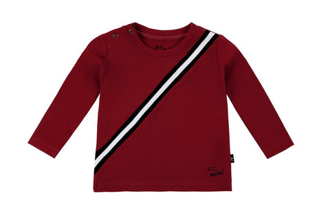 Petit Clair rust sport stripe top