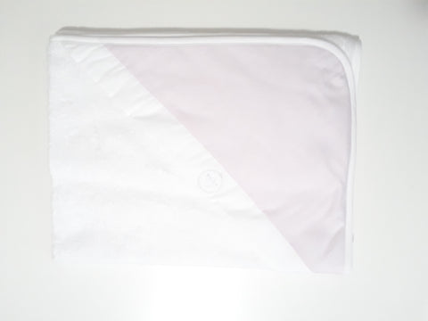 Laranjinha hooded towel with pink dotted print detail