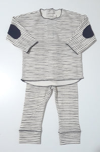 Message in the Bottle striped 2 pc set with elbow patches
