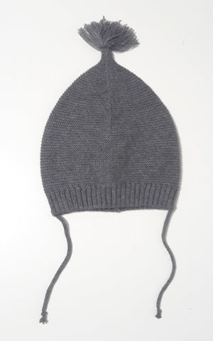 Message in the Bottle grey knit beanie with tassel