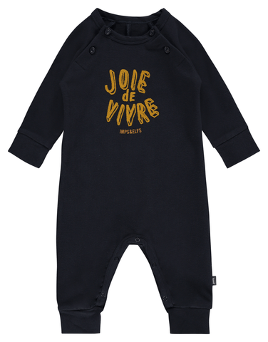 Imps & Elfs navy joie de vivre footless stretchy