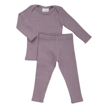 Petals & Peas sweet lilac ribbed 2 pc set