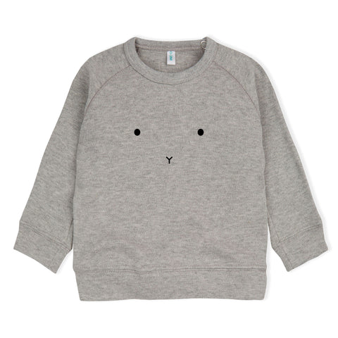 ORGANIC ZOO GREY BUNNY FACE TOP