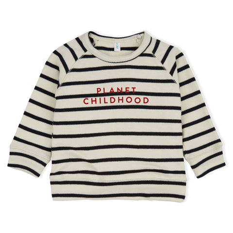 ORGANIC ZOO STRIPED PLANET CHILDHOOD TOP