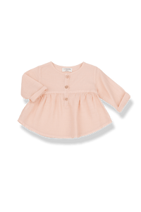 1+IN THE FAMILY FLAIRY BUTTON-DOWN BLOUSE
