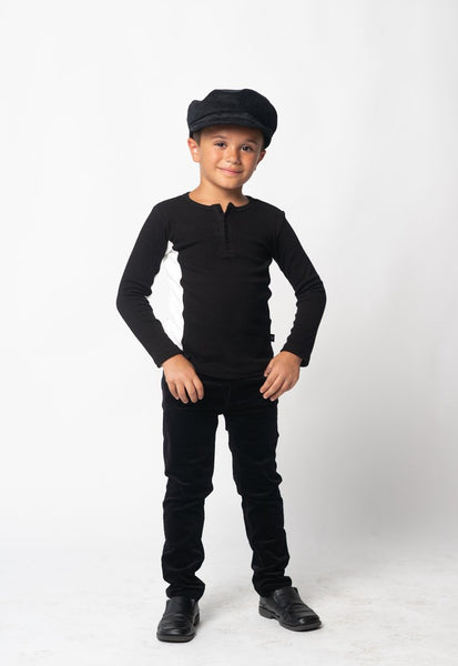 Petit Clair black ribbed lil monsier beau top