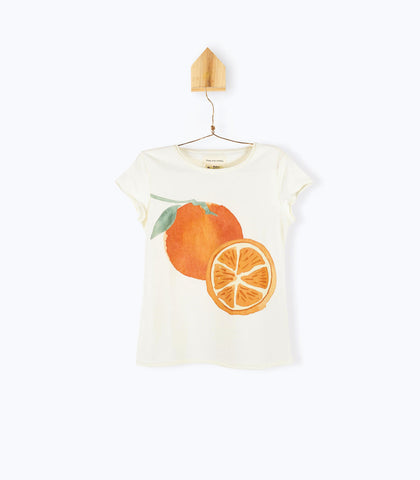 ARSENE IVORY T-SHIRT WITH ORANGES IMAGE