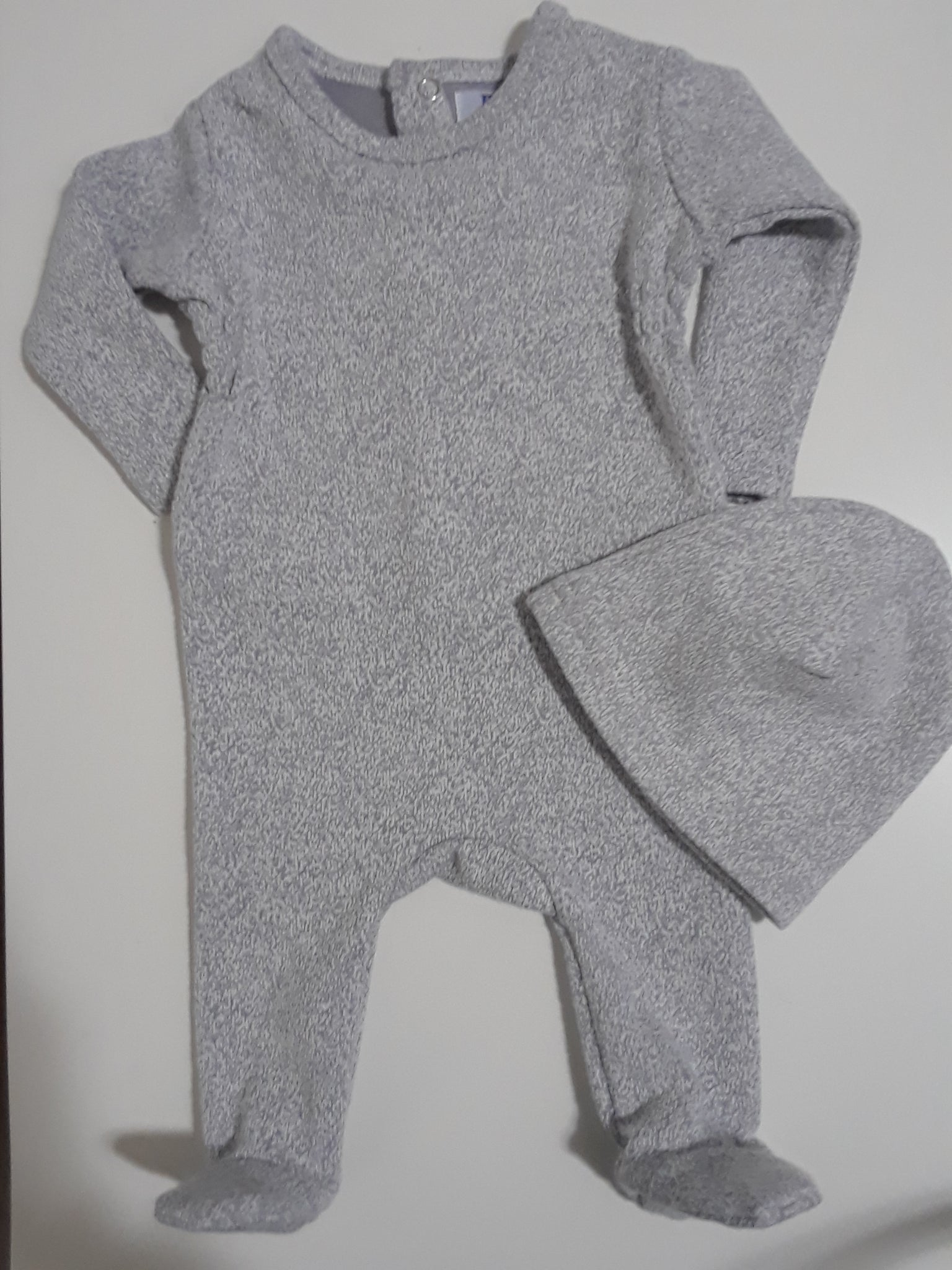 P&P Heather grey stretchy & beanie