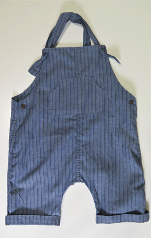 MESSAGE IN THE BOTTLE DENIM STRIPE OVERALLS